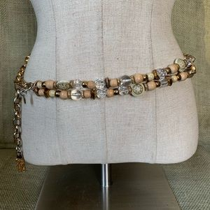 Vintage Express bohemian beaded chain belt